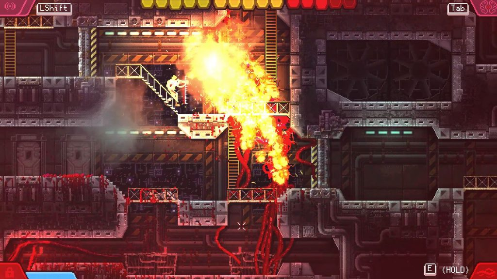 Carrion features beautiful pixel-art style visuals