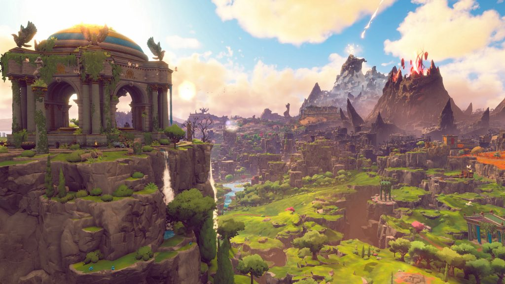 Immortal Fenyx Rising game screenshot, beautiful open world
