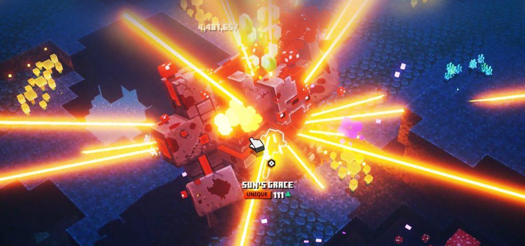 Mooshroom Monstrosity 1-hit kill using Dynamo enchantment damage stacking
