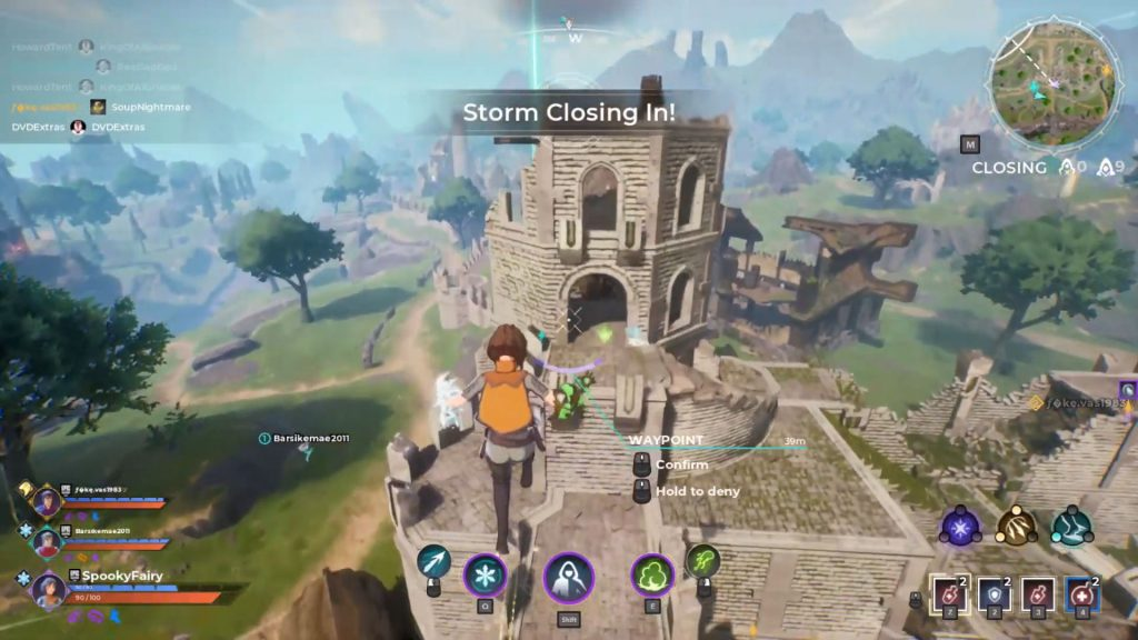 character flying ability in Spellbreak game screenshot